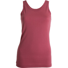 Tufte Wear Summer Wool Top Tri sin Mangas Mujer, roan rouge